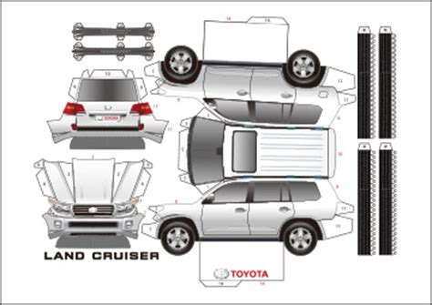 Toyota Papercraft - toyota blue papercraft templates pictures inspirational