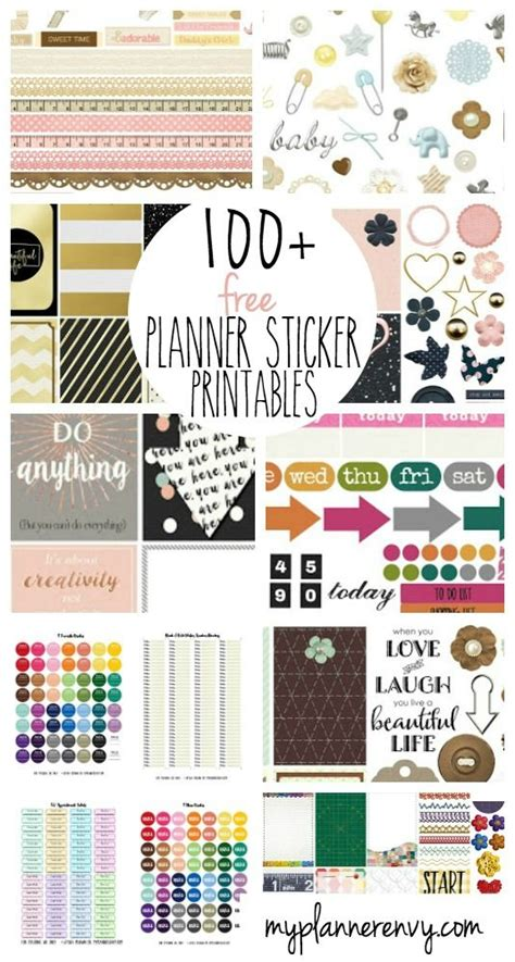 printable planner accessories hundred of free printable planner stickers by my planner