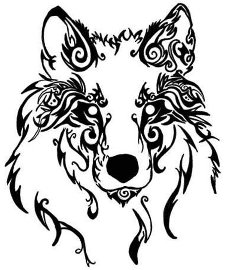 tribal wolf face tattoo tribal wolf tattoos beautiful