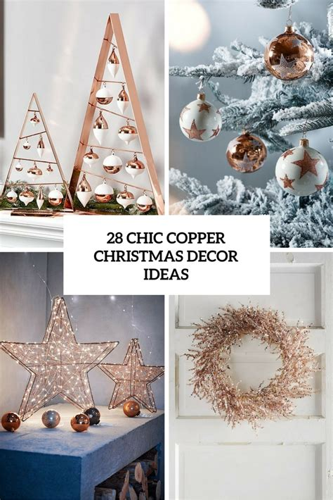 copper decor 28 chic copper christmas d 233 cor ideas digsdigs