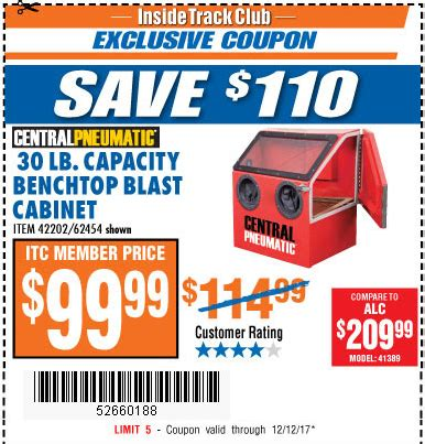 abrasive blast cabinet harbor freight harbor freight tools coupon database free coupons 25