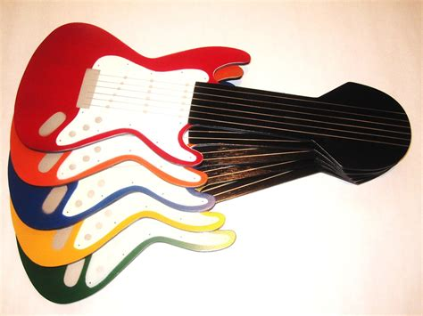 Guitar Ceiling Fan Multi Colored Electric Guitar Shaped Ceiling Fan Blades