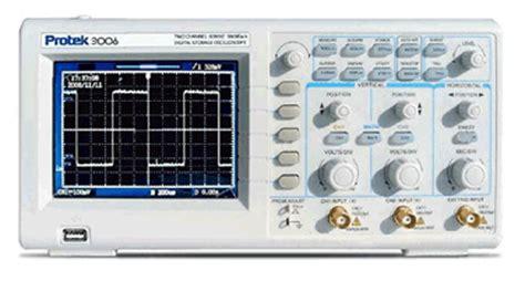 Protek 3120 Digital Storage Oscilloscope 200mhz 2 Channel cromtech india