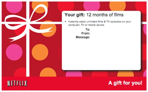 Where To Buy Netflix Gift Card In Store - does netflix sell giftcards