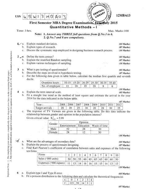 Pondicherry Mba 1st Sem Question Papers by 1st Semester Mba June 2015 Question Papers