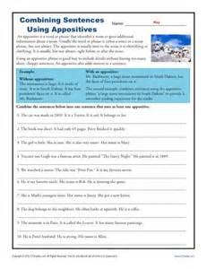 appositive worksheet cleverwraps