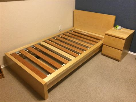 malm twin bed ikea malm single twin bed birch veneer 120 saanich