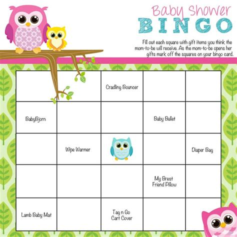 baby bingo card template how to play baby shower bingo baby shower ideas