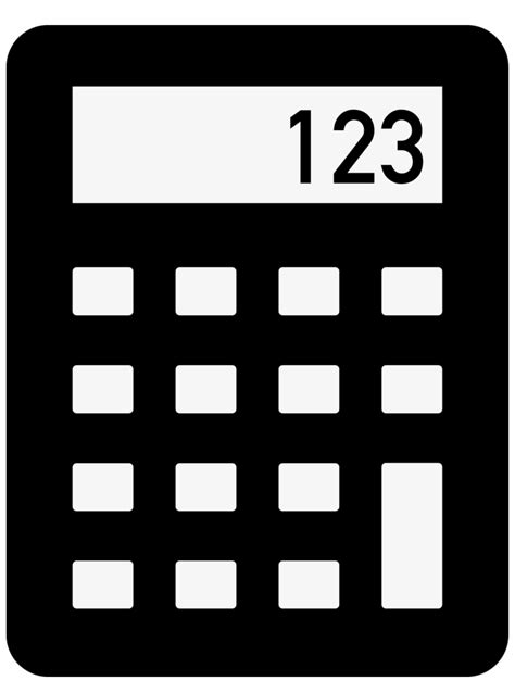 Library of calculator icon clipart black and white png