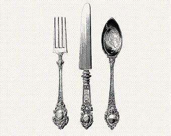 Kitchen Knives Australia by Antique Silverware Knife Fork Spoon Cutlery Printable