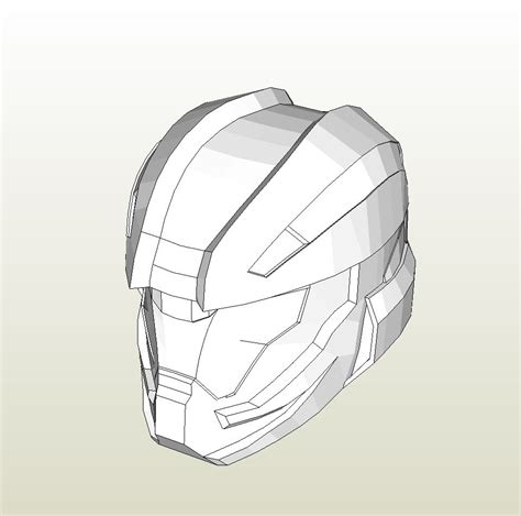 pepakura foam templates papercraft pdo file template for halo 4 recruit helmet