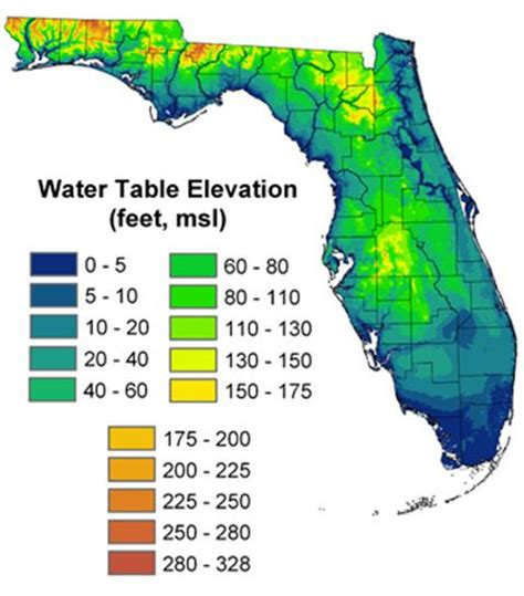 elevation map of florida effects of sea level rise on florida