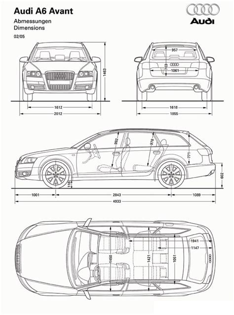 Audi A6 Size Dimensions by Audi A4 Wagon Dimensions The Wagon