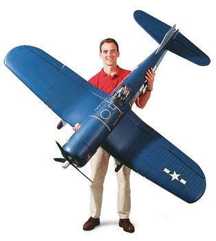 the rc vought corsair. top flite's 60 size and giant scale
