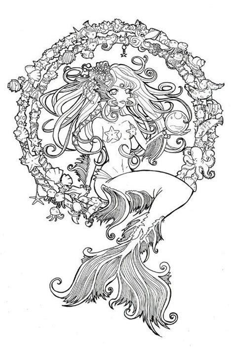 for colored script mermaid line colored in instead of shells in a