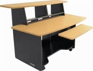studio trends 46 desk maple omnirax presto studio desk with keyboard shelf musician