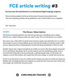 Write And Essay by Fce Writing Sles And Essay Exles Myenglishteacher Eu