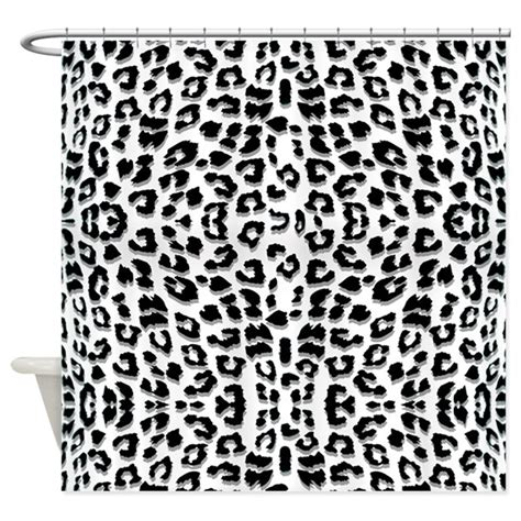 snow leopard shower curtain snow leopard print shower curtain by cutetoboot
