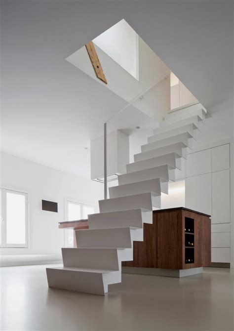 Architectural Stairs Design Modern Apartment Renovation In Bright Design Apartment Singel Home Building Furniture And