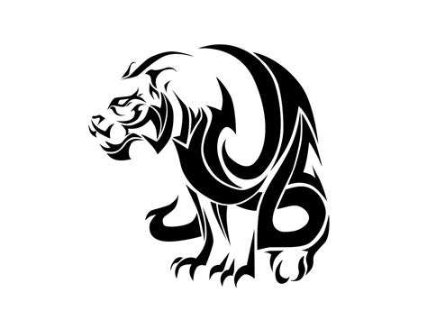evil tribal tattoos big tribal tiger design idea design ideas