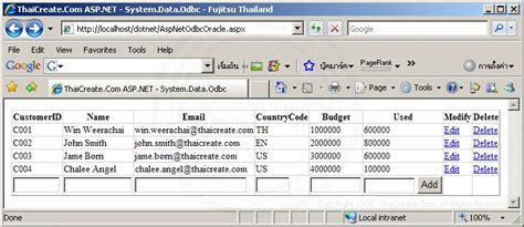 tutorial asp net oracle c asp net oracle system data odbc