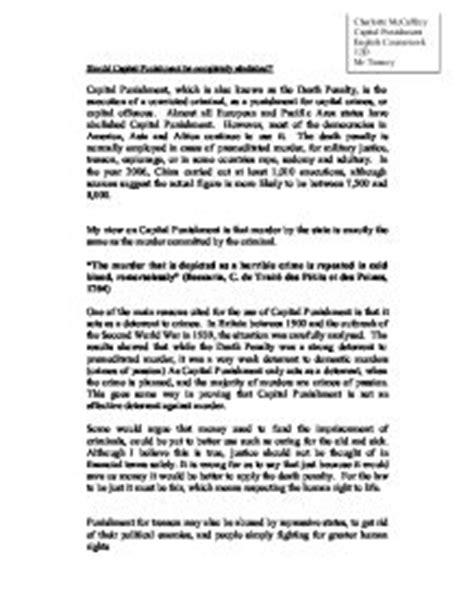 Abolish Penalty Essay by Essay On Capital Should Be Abolished