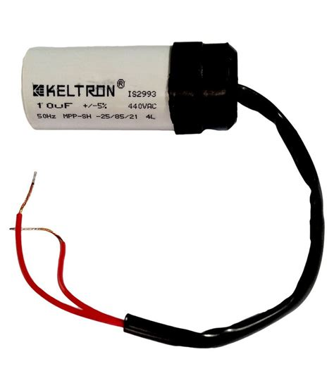 10 mfd capacitor price buy keltron 10 mfd motor run capacitor at low price in india snapdeal