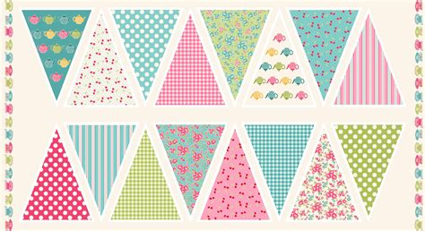 printable fabric uk makower uk fabrics tea party bunting gillybee designs