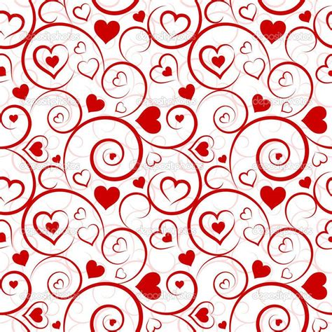 pattern background hearts red heart backgrounds wallpaper cave