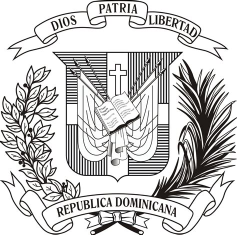 dominican flag emblem coloring page coloring pages