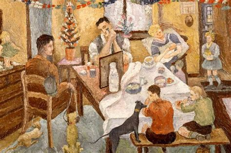 biography famous artist family wanted to recreate ashington christmas scene image