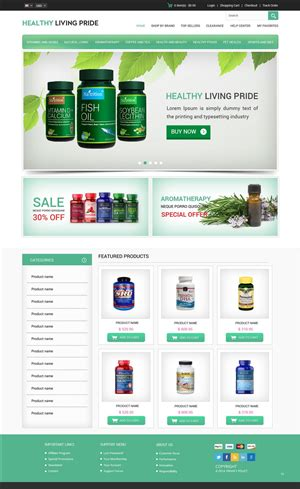 Vitamin Website Design Design Studio Website Template Template Web Desing And Website Ideas Supplement Website Template