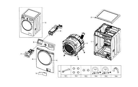 samsung front load washer parts diagram samsung washer parts model wf330anwxaa0005 sears