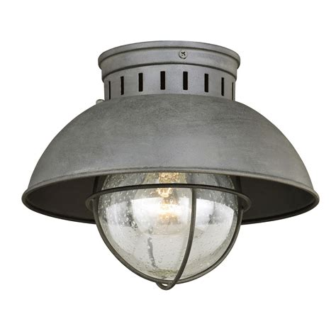 Outdoor Lighting On Sale Vaxcel Harwich Textured Gray One Light Outdoor Flush Mount On Sale