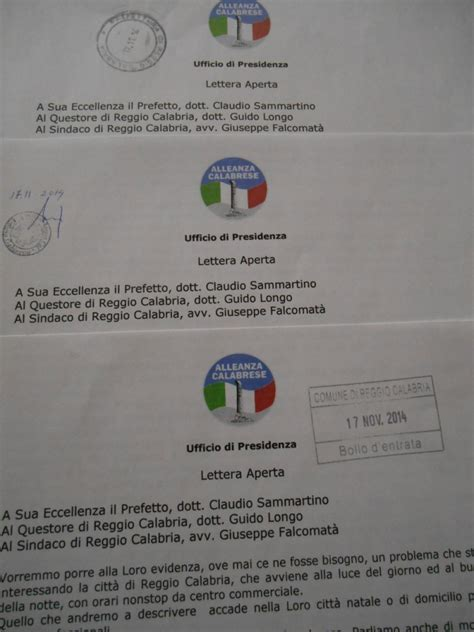 prefettura di reggio emilia ufficio cittadinanza reggio alleanza calabrese scrive a prefettura questura e