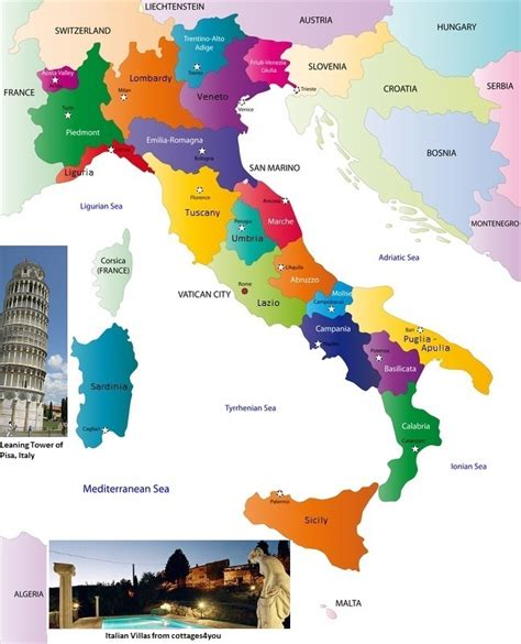 map uk to italy cottage rentals across from cottages4you