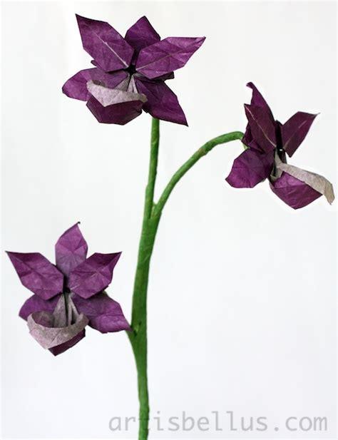 Orchid Origami - origami flowers orchid origami artis bellus