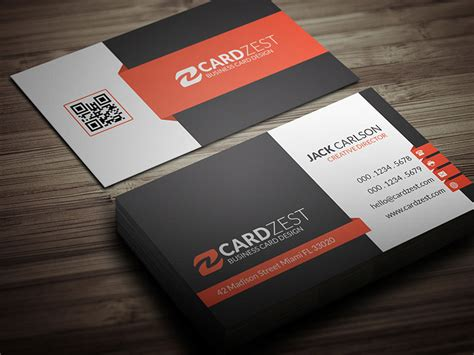 professional card templates modern corporate professional business card template