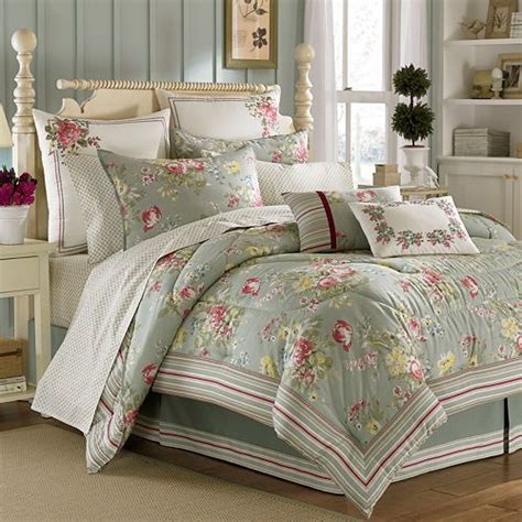 laura ashley eloise 4 pc comforter set queen shabby chic bedding pinterest products