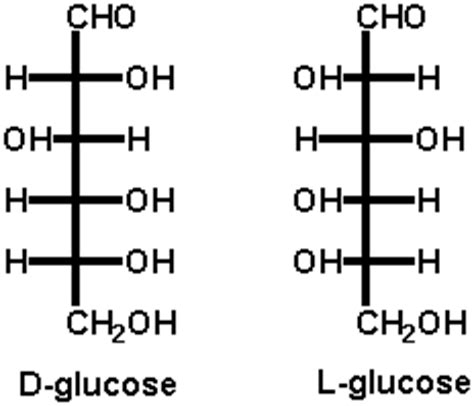 carbohydrates d and l what are the structures of l and d glucose diabetes