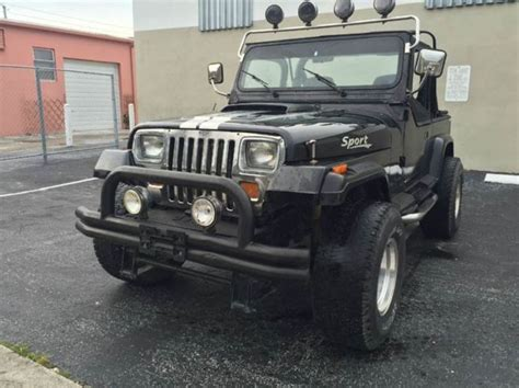 4 Cylinder Jeep 1990 Jeep Wrangler 2dr 4wd 8 Cylinder Automatic