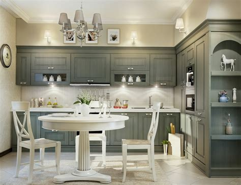 nice white wood kitchen table with four chairs around