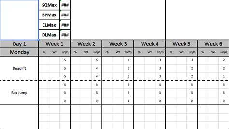 strength and conditioning templates strength coach template with sheet and