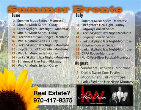 montrose colorado summer festival calendar