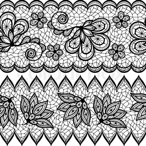 lace pattern sketch old lace seamless pattern ornamental border vector