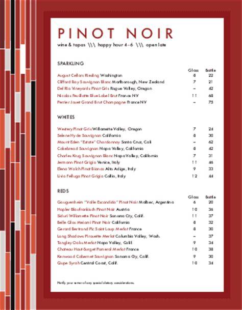 html menu bar templates free menu for wine bar bar menus