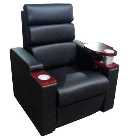 foto de cine asiento reclinable de cuero real electrico teatro cine sofa silla vip  en es