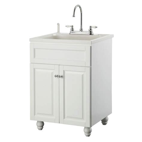 laundry sink foremost bramlea 24 in laundry vanity in white and abs sink in white and faucet kit bawa2421