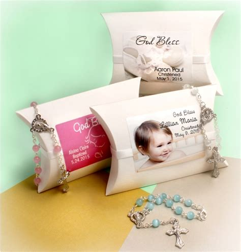 Rosary Giveaways Baptism - christening mini rosary favors personalized wrap