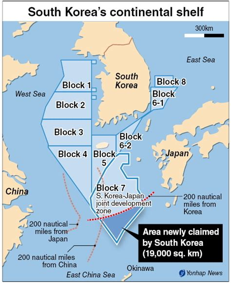 What Sea And Shelf Are South Of New Zealand by Korea China Japan In Race Continental Shelves